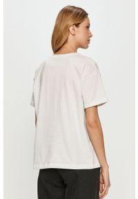 Biała bluzka casualowa, z nadrukiem