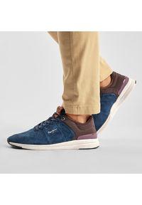 Pepe Jeans - Sneakersy PEPE JEANS - Jayker Street PMS30638 Navy 595. Kolor: niebieski. Materiał: materiał, zamsz, skóra. Szerokość cholewki: normalna. Styl: street