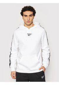 Reebok Bluza Essentials Tape GU9962 Biały Regular Fit. Kolor: biały