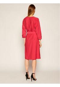 Różowa sukienka TOMMY HILFIGER na co dzień, casualowa, prosta