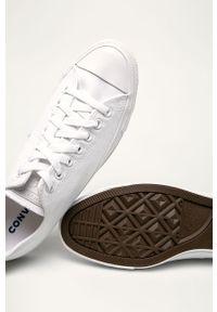 Białe niskie trampki Converse na sznurówki, z cholewką, z okrągłym noskiem