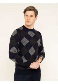 Niebieski sweter klasyczny Superdry