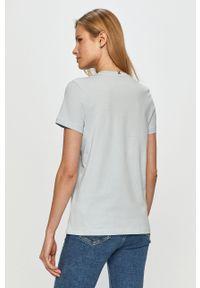 Niebieska bluzka TOMMY HILFIGER casualowa, z nadrukiem, na co dzień