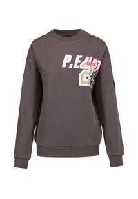 PE Nation - Bluza P.E. NATION GOAL LINE SWEAT. Materiał: bawełna, dzianina, tkanina, włókno, prążkowany. Wzór: nadruk. Styl: klasyczny