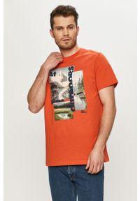 T-shirt Jack Wolfskin z nadrukiem, casualowy, na co dzień