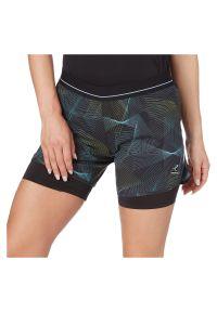 Spodenki damskie do biegania Energetics Isolda 2in1 411860. Materiał: poliester, materiał, elastan. Wzór: nadruk, kolorowy. Sport: fitness