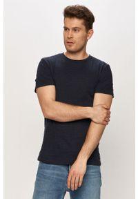 Niebieski t-shirt Tom Tailor melanż, na co dzień, casualowy