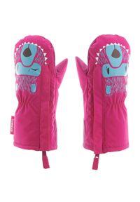 LUGIK - Rękawice na śnieg lub na sanki Warm dla maluchów. Kolor: różowy. Materiał: materiał, bawełna. Sezon: zima