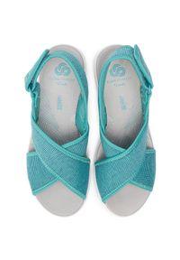Niebieskie sandały Clarks casualowe, na co dzień