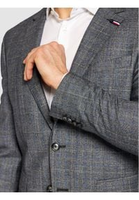 Tommy Hilfiger Tailored Garnitur Check TT0TT08549 Szary Slim Fit. Kolor: szary