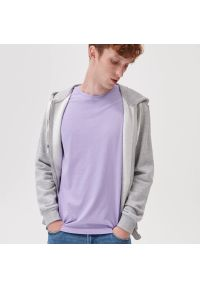 Sinsay - Koszulka basic - Fioletowy. Kolor: fioletowy