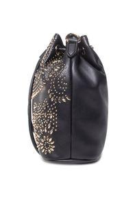 Czarna torebka worek Versace Jeans Couture na ramię
