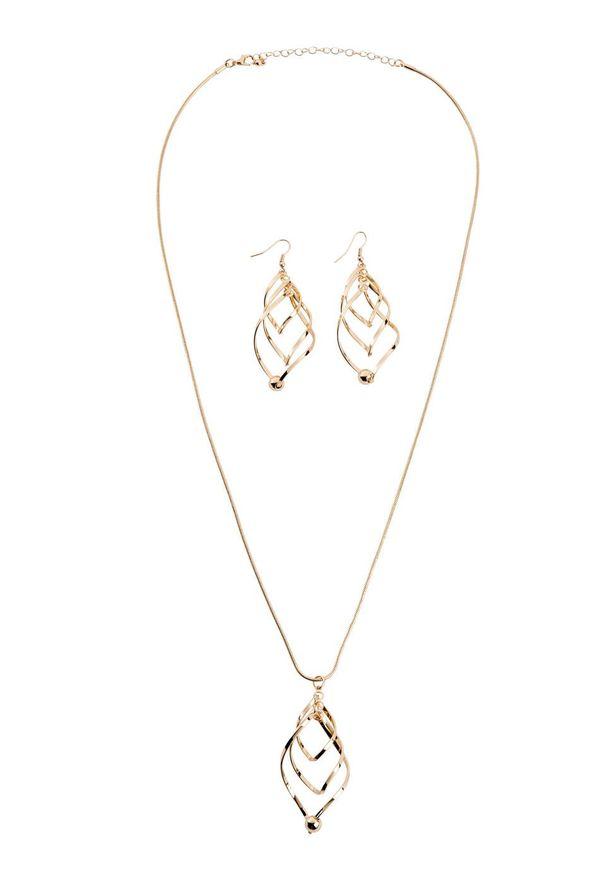 Komplet 3-częściowy biżuterii bonprix złoty kolor