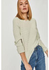Miętowy sweter Answear Lab długi, na co dzień, wakacyjny