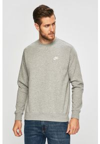 Szara bluza nierozpinana Nike Sportswear z okrągłym kołnierzem, na co dzień