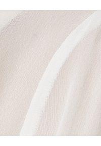 Elisabetta Franchi - ELISABETTA FRANCHI - Biała koszula z jedwabiu. Kolor: biały. Materiał: jedwab. Długość: długie. Styl: elegancki