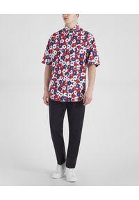PAUL & SHARK - Bawełniana koszula z nadrukiem. Kolor: czerwony. Materiał: bawełna. Wzór: nadruk. Styl: wakacyjny