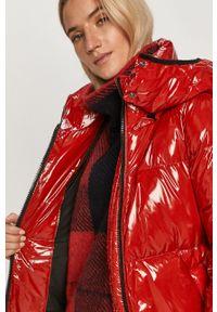 Czerwona kurtka TOMMY HILFIGER na co dzień, z kapturem