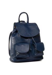 Creole - Plecak CREOLE - K10720 D24. Kolor: niebieski. Materiał: skóra. Styl: klasyczny