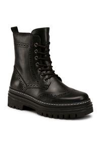 Czarne buty trekkingowe Gabor