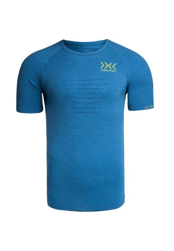 Niebieska koszulka termoaktywna X-Bionic długa, na fitness i siłownię