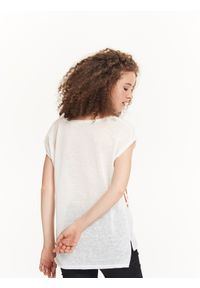 Biała bluzka TROLL na lato, krótka, z krótkim rękawem #7