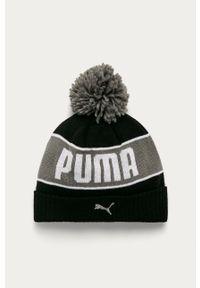 Czarna czapka Puma z nadrukiem