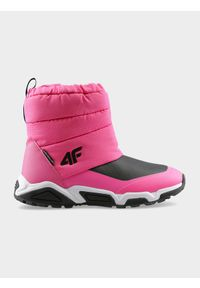 Różowe buty zimowe 4f casualowe, na zimę