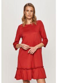 Czerwona sukienka Vila casualowa, mini