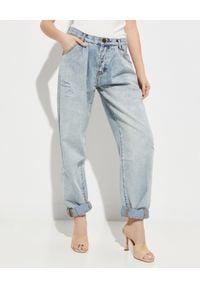 ONETEASPOON - Niebieskie jeansy Smiths Low Waist. Stan: obniżony. Kolor: niebieski. Wzór: aplikacja. Styl: elegancki, klasyczny