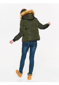 Brązowa kurtka TROLL na jesień, z kapturem, elegancka