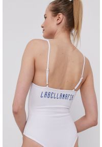 LABELLAMAFIA - LaBellaMafia - Top. Kolor: biały. Długość rękawa: na ramiączkach. Wzór: nadruk