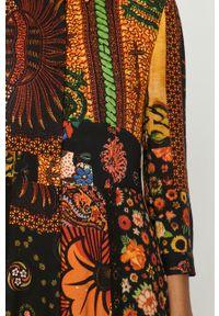 Wielokolorowa sukienka Desigual maxi, na co dzień, z długim rękawem