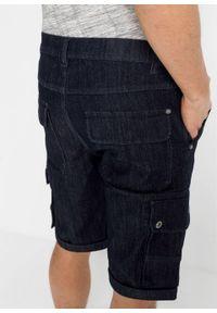 """Bermudy dżinsowe w wygodnym fasonie ze stretchem, Regular Fit bonprix ciemnoniebieski """"stone"""". Kolor: niebieski"""