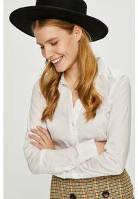 Vero Moda - Koszula. Typ kołnierza: kołnierzyk klasyczny. Kolor: biały. Materiał: tkanina. Styl: klasyczny
