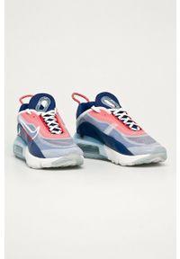 Niebieskie sneakersy Nike Sportswear z cholewką, na sznurówki, Nike Air Max