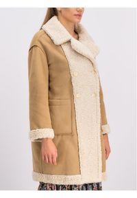 Beżowy płaszcz zimowy My Twin