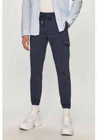 Niebieskie spodnie Tommy Jeans casualowe, na co dzień