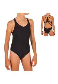 NABAIJI - Strój Jednoczęściowy Do Pływania Synchronicznego Dla Dzieci. Kolor: czarny. Materiał: poliamid, materiał, poliester