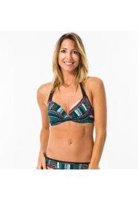 OLAIAN - Góra kostiumu kąpielowego ELENA VILA damska. Kolor: zielony #1