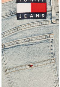 Niebieskie szorty Tommy Jeans gładkie, casualowe, na co dzień