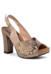 Beżowe sandały Libero eleganckie