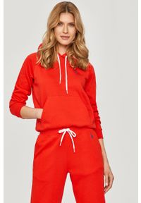 Czerwona bluza Polo Ralph Lauren polo, casualowa, raglanowy rękaw