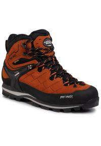 Pomarańczowe buty trekkingowe MEINDL trekkingowe, z cholewką, Gore-Tex