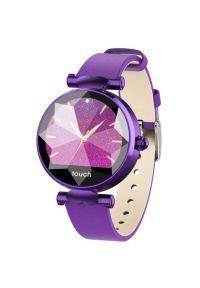 Fioletowy zegarek GARETT elegancki, smartwatch