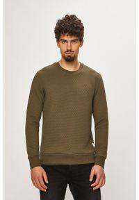 Zielona bluza nierozpinana Jack & Jones casualowa, na co dzień, bez kaptura