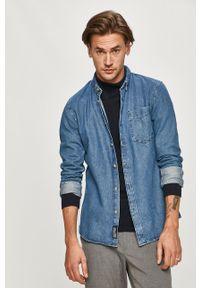 Niebieska koszula Tom Tailor długa, button down, casualowa, na co dzień