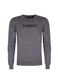 Sweter DSQUARED2 na co dzień, casualowy, z okrągłym kołnierzem