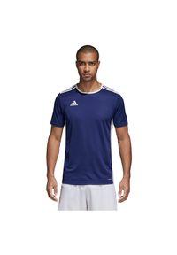 Adidas - Koszulka piłkarska męska adidas Entrada 18 CF1036. Materiał: dzianina, skóra, materiał, poliester. Technologia: ClimaLite (Adidas). Wzór: ze splotem. Sport: piłka nożna