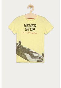 Żółty t-shirt Name it na co dzień, casualowy